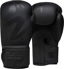 rdx boxing gloves for training muay thai matte black convex skin leather gloves for sparring kickboxing fighting punch bags and focus pads punching