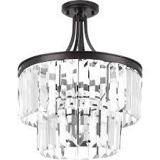 glam lighting. Progress Lighting Glimmer 16.25-in W Antique Bronze Glam Standard Flush  Mount Light Glam Lighting