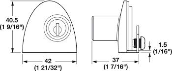Double Door Lock, for Glass Door - in the Häfele America Shop