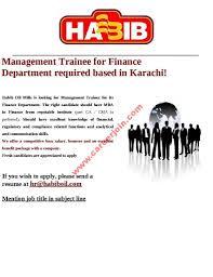 Habib Oil Mills Jobs Management Trainee Nov 2016