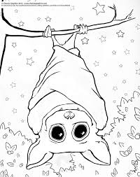 Small Picture Bat Hanging Upside Down Coloring Page Coloring Coloring Pages