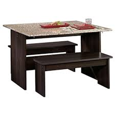 Sauder Kitchen Furniture Sauder Beginnings 3 Piece Cinnamon Cherry Dining Set 413854 The