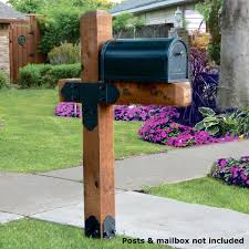 wood mailbox posts. OZCO Project Kit: Estate Wooden Mailbox Post Assembly - Laredo Sunset DecksDirect Wood Posts O
