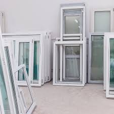 alutec services image of window frames with glass panels