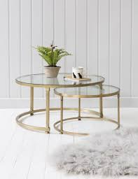 coco nesting round glass coffee tables