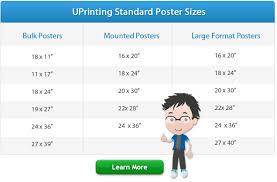 Standard Poster Sizes For Printing Design Uprinting Com