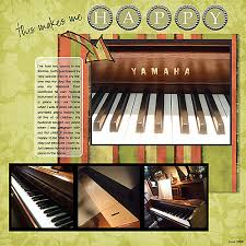 My Scrapbook Layouts: Piano Happy