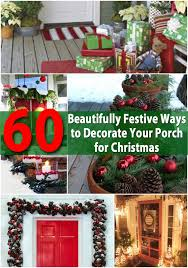 diy front porch decorating ideas. 60 beautifully festive ways to decorate your porch for christmas diy front decorating ideas