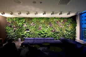 office feature wall ideas. general office waiting area verical garden feature wall couch and angled lighting vertical design ideas