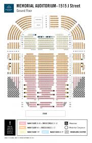 Raley Field Seating Chart Memorial Auditorium Seating Chart Broadway Sacramento