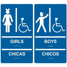 boys and girls bathroom signs. Buy ComplianceSigns Acrylic ADA Girls Boys Restroom Sign Set, 11 X 6 In. With English, Spanish + Braille, Blue In Cheap Price On Alibaba.com And Bathroom Signs