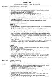 Technician Service Resume Samples Velvet Jobs