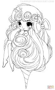 Small Picture Chibi Cotton Candy Girl coloring page Free Printable Coloring Pages