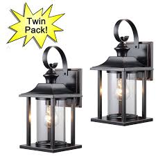 oil rubbed bronze outdoor patio porch exterior light fixture twin pack 73479