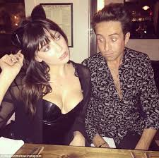 Daisy Lowe Shows Off Her Cleavage In A PVC Dress As Pal Nick