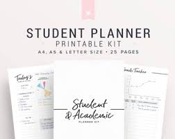 College Academic Planners College Planner Etsy