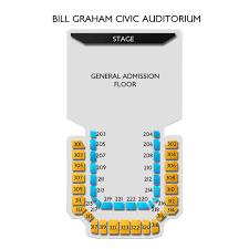 Bill Graham Civic Auditorium 2019 Seating Chart