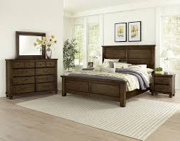 Vaughan-Bassett American Oak 4pc Mansion Bedroom Set in ...