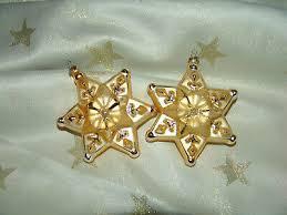 Traumhafter Christbaumschmuck Inge Glas 10 Cm Sterne Gold 2