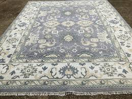 8x10 gray wool rug hand knotted oushak new ushak persian rugs woven made grey