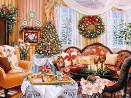 christmas table decorations tree decoration home holidays Victorian  Christmas decorating ideas