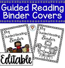 create binder cover editable guided reading binder covers and templates by create abilities