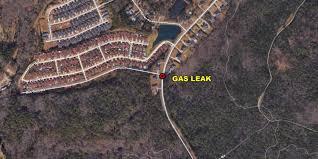 officials crews working to repair gas leak near chestnut hill plantation