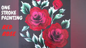 how to paint red rose simple and easy tutorial series