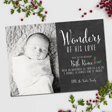 Christmas Birth Announcement Wonders Of His Love Chalkboard Etsy