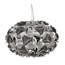 triangle 3 light large chrome and smokey acrylic pendant