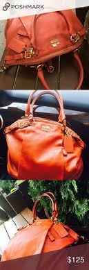 ... coach madison embossed medium orange satchels del satchels madison  pinterest emboss satchels and crocodile