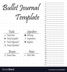 Journal Templates Bullet Journal Template Simple Papers Task
