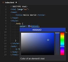 color picker in html