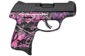 ruger ec9s 9mm pistol with muddy girl camo frame