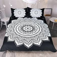 boho duvet cover queen bohemian bedding set luxury black twin full king size quilt plaid from