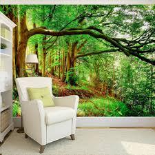 Custom Elke Grootte 3d Muur Muurschildering Behang Vliesbehang Groen
