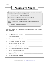 Awesome Collection of Possessive Worksheets 3rd Grade On Sheets ...