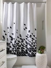 Geometric Patterned Curtains Black And White Geometric Pattern Curtains