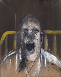 study for the head of a screaming pope 1952 yale center