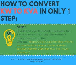 Kw To Amps Conversion Chart Kw To Kva Calculators Formula Table Convert Free