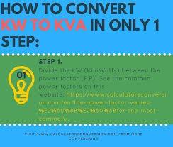 Kw To Kva Calculators Formula Table Convert Free