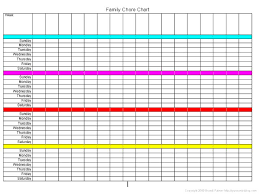 4 Person Chore Chart Family Chore Chart Family Time Kid Stuff Activities