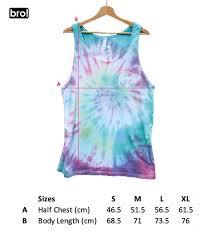 Sunset Shred Club Tie Dye Vest Rainbow Spiral