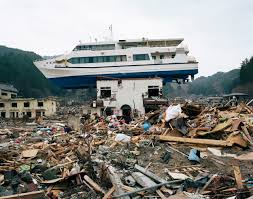 media library boat dragged inland in akahama by the  boat dragged inland in akahama by the 2011 tsunami credit stephen vaughan
