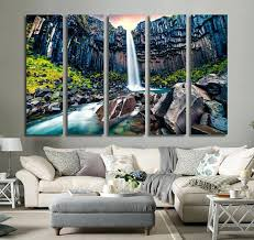 waterfall wall art with sound
