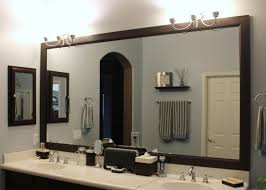 wood framed bathroom mirrors. Lighting Fabulous Wood Framed Bathroom Mirrors 12 Rectangular Wall Mirror