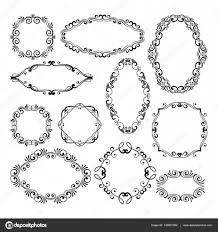 fl design filigree frame elements vector black royal frames for or wedding invitations