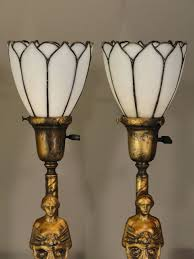 art nouveau floor lamp with lamps shades bridge and deco glass cool table decoration