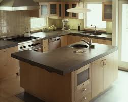 Kitchen Counter Table Design Kitchen Countertop With Black Color Granit And L Shaped Table Also