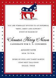 Political Fundraising Invitations Democrat Party Fundraising Invitation Political Invitation Patriotic Party Announcement Donkey Invite Original Digital Invite Iv578